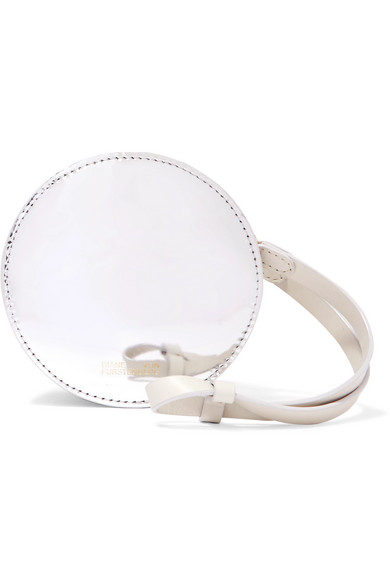 Circle Mirrored And Smooth Leather Pouch - Silver Diane Von F D4fwKiNJ