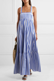 J.Crew + Thomas Mason Honduras striped cotton-poplin maxi dress