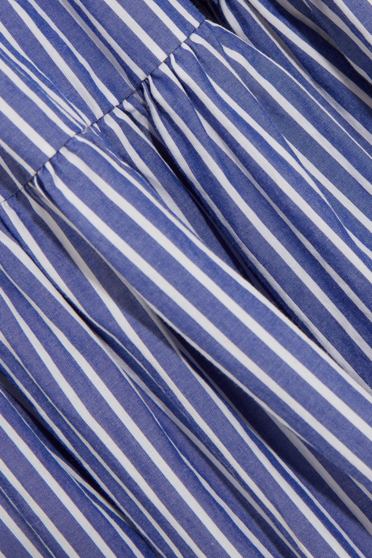 J.Crew Garratt tiered striped cotton-poplin midi dress