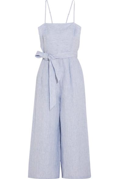 J.Crew - Marseille Pinstriped Linen Jumpsuit - Blue