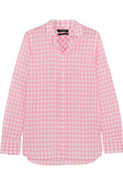 J.Crew Boy gingham crinkled-cotton shirt