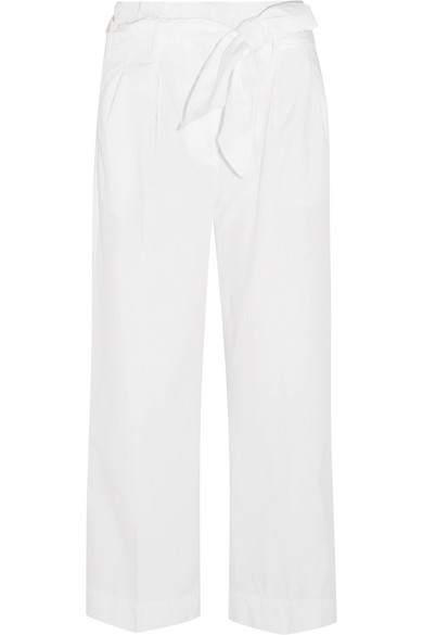 J.Crew - Gramsey Cropped Cotton-poplin Wide-leg Pants - White
