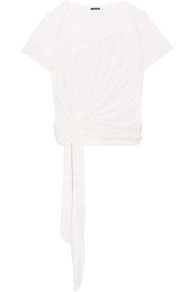 J.Crew - Jersey Wrap Top - White