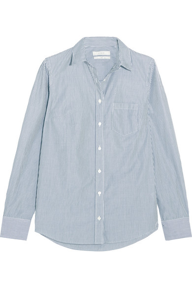 J.Crew - Boy Striped Cotton-poplin Shirt - Navy