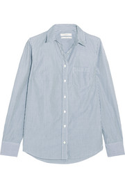 J.Crew Boy striped cotton-poplin shirt