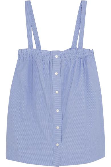 J.Crew - Sandstone Pinstriped Cotton-poplin Camisole - Blue