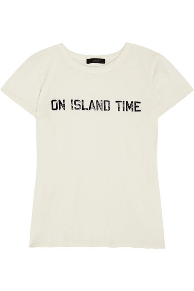 J.Crew - On Island Time Printed Cotton-jersey T-shirt - Off-white