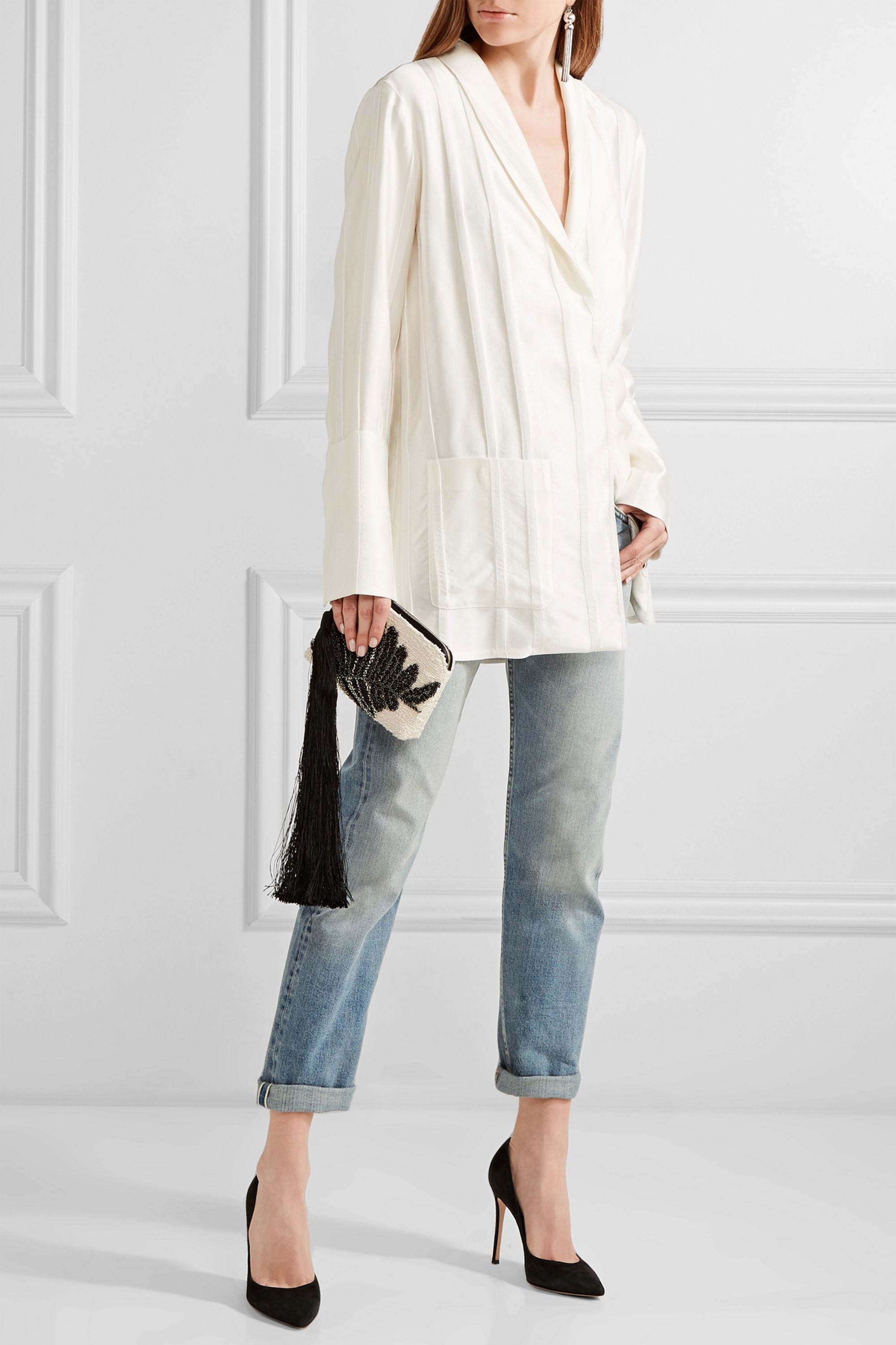 The Row Ashland cropped mid-rise straight-leg jeans