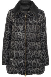 Moncler Alimede leopard-print quilted shell down coat