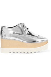 Stella McCartney Elyse metallic faux leather platform brogues
