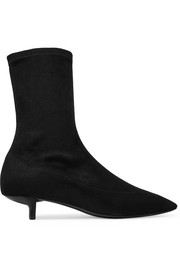 Stella McCartney Faux stretch-suede ankle boots