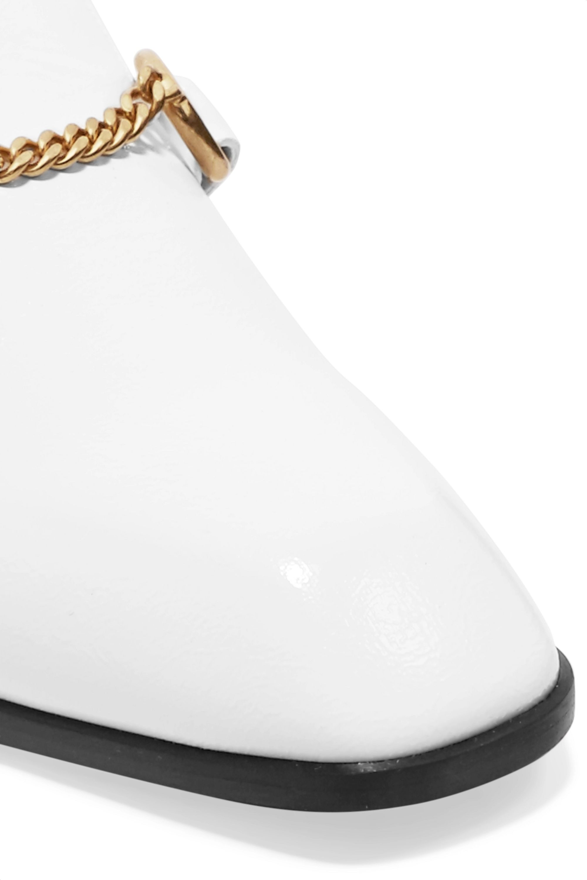 Stella McCartney Chain-embellished faux leather slippers