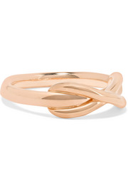 Infinity 18-karat rose gold ring
