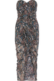 Peyton ruffled printed silk-chiffon midi dress
