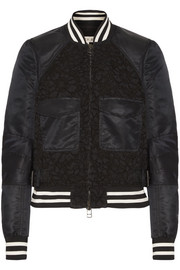 Jones shell and corded lace bomber jacket