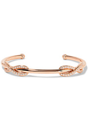 Double Infinity 18-karat rose gold diamond cuff
