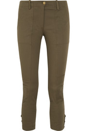 Field cropped stretch cotton-blend twill skinny pants