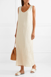 The Row Yellin pleated silk-charmeuse dress