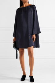 The Row Tharpe oversized charmeuse mini dress