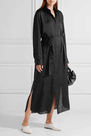 The Row Camisea charmeuse shirt dress