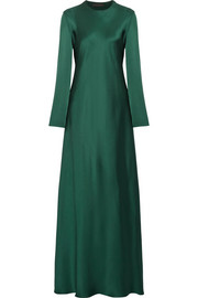 The Row Yulia silk-satin gown
