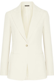 The Row Ibner wool-blend grain de poudre blazer