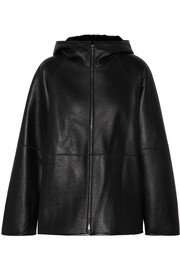 The Row Lennai hooded shearling jacket