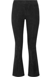 The Row Athby stretch-suede bootcut pants