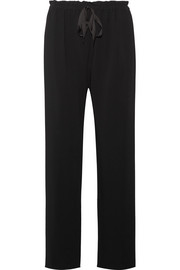 Paco stretch-cady straight-leg pants