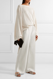 The Row Gala silk-satin wide-leg pants