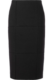The Row Mattie pointelle-trimmed scuba pencil skirt
