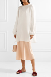 The Row Latou open-back silk crepe de chine blouse