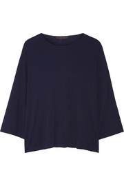Mildred cotton-jersey top