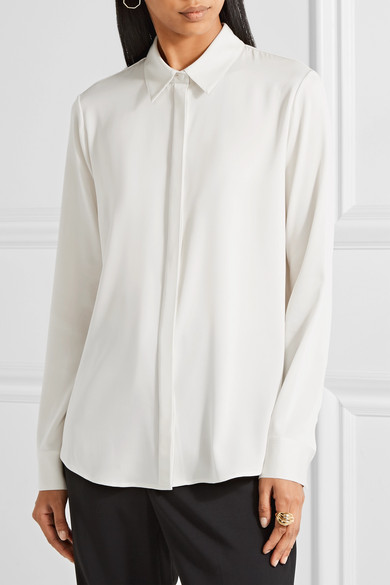 The Row Petah Hemd aus Georgette aus einer Seidenmischung
