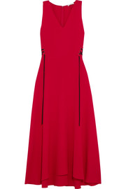 TOME Lace-up crepe midi dress