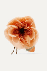 Floral silk brooch