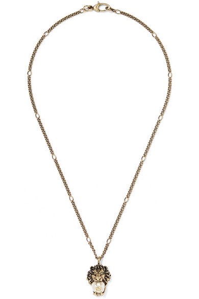 Gucci - Burnished Gold-tone Faux Pearl Necklace