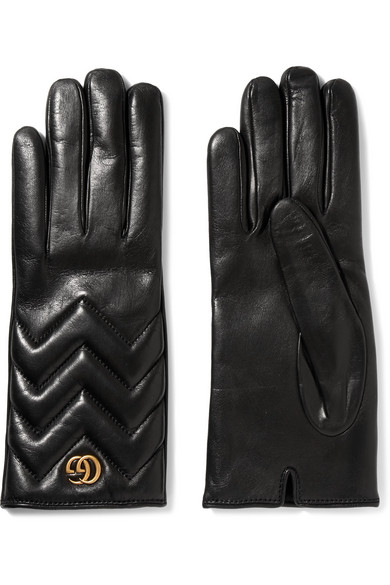 Gucci - Quilted Leather Gloves - Black