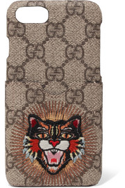 Gucci Appliquéd printed coated-canvas iPhone 7 case