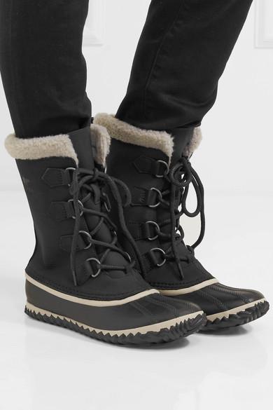 sorel caribou slim waterproof nubuck and rubber boots