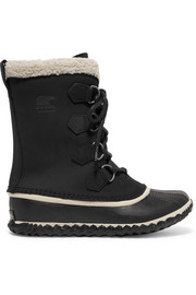 Sorel Caribou Slim waterproof nubuck and rubber boots
