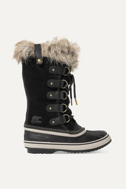 Sorel Joan of Arctic waterproof faux fur-trimmed suede and rubber boots