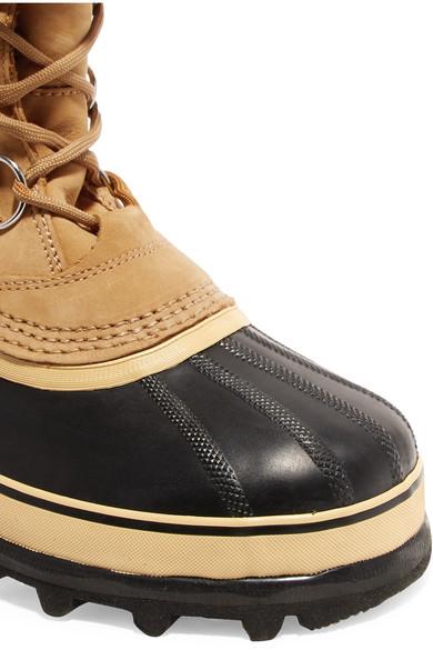 Sorel Caribou wasserdichte Stiefel aus Veloursleder und Gummi