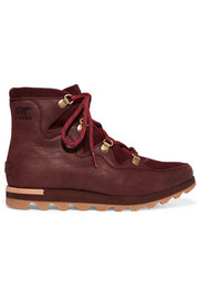 Sorel Sneakchic Alpine suede and leather ankle boots