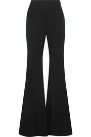 Lovedolls satin-trimmed crepe flared pants