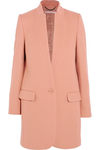 Bryce Single-Breasted Wool-Blend Coat, Pastel Pink