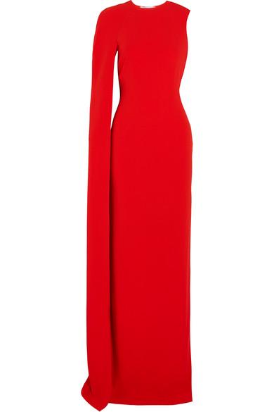 ee69b51fb6c3 Stella McCartney. Cecilia cape-effect cady gown