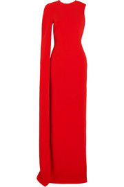 Stella McCartney Cecilia cape-effect cady gown