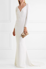 Layla stretch-crepe gown