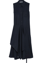 Willow asymmetric cotton-poplin midi dress